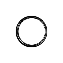 Black Steel Hinged Ring 14-20 GA
